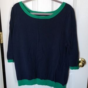 Old Navy 3/4 sleeve blue/green sweater XXL